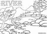 River Coloring Pages Rivers Bridge Sheet Printable Nature Colorings Divyajanani sketch template