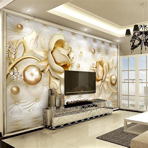 3d Wallpapers For Walls In Karachi by Beibehang 3d Wallpapers Luxury Gold Roses Soft Bag