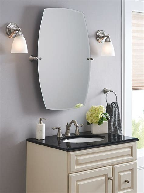 Moen Bathroom Mirrors by The Moen Rockcliff Mirror Gives You Endless Flexibility