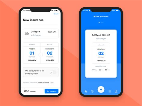 We make the claims process simple. Short term car insurance app by Digital55 on Dribbble