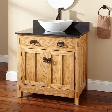 bathroom vanity with vessel sink 30 quot mission hardwood vessel sink vanity bathroom