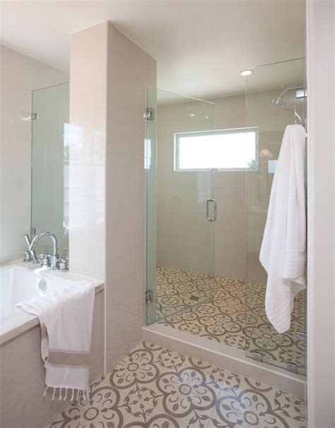 Tiling A Bathroom Floor On Concrete by Jaimee Interiors Used Our Normandy Cement Tile In