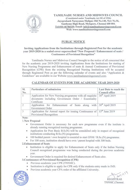 tamil nadu nurses midwives council