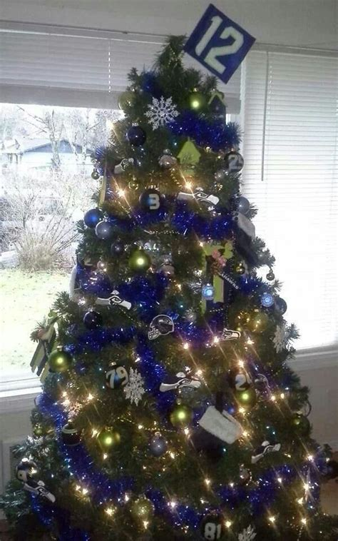 christmas decor seattle 9 best images about seattle seahawks decor on ornament tree trees and