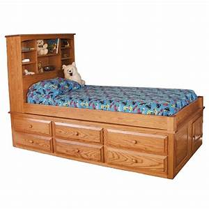Captain's Bed With 6 Drawers Amish Made Captains Bed