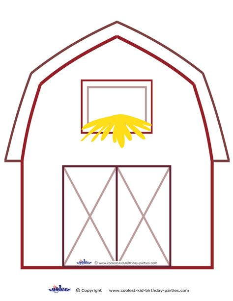 barn template 6 best images of barn template printable free printable barn templates free printable barn