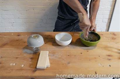 Concrete Lamp Homemade Bowl Step Modern Ep37