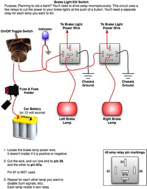 installing a rear brake light kill switch top forum