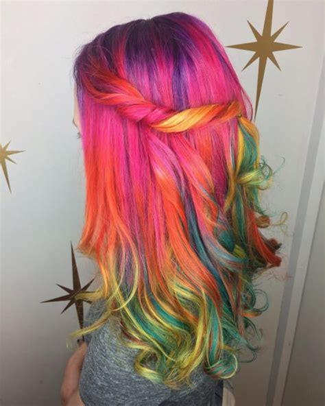 cool rainbow hair color ideas  rock  summer
