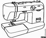 Sewing Machine Coloring Pages Tools Colorear Costura Coser Utensils Printable sketch template