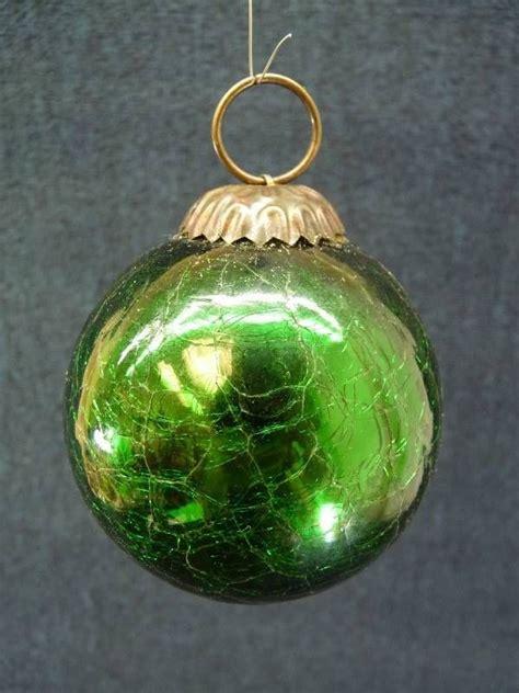 vintage kugel german green crackle christmas ornament w