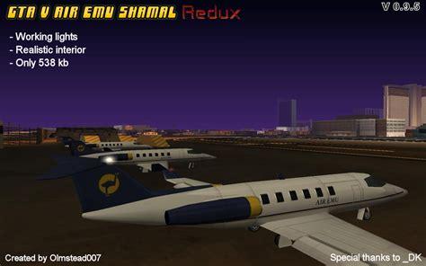 Gta V Air Emu Shamal Redux 0.9.5 Addon