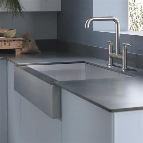 top mount apron sink kohler k 3942 4 na vault top mount single bowl kitchen
