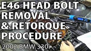 Bmw E46 Torque Head Bolts  U0026 Remove Cylinder Head  M54rebuild 11