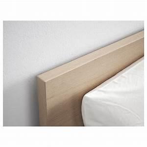 Cadre De Lit 160x200 : malm cadre de lit haut plaqu ch ne blanchi 160x200 cm ikea ~ Nature-et-papiers.com Idées de Décoration