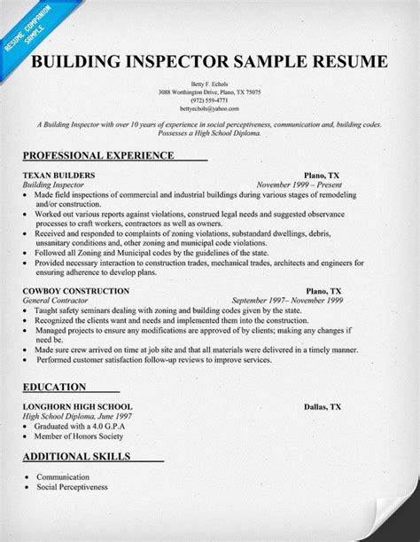 builder resume companion 28 images resume format no
