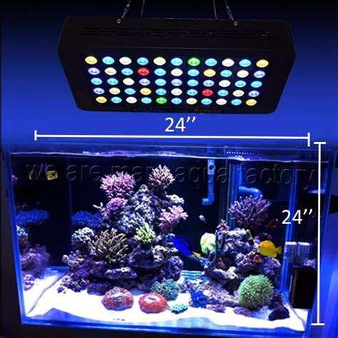 led lights for reef tank 165w led aquarium light dimmable reef coral grow tank l