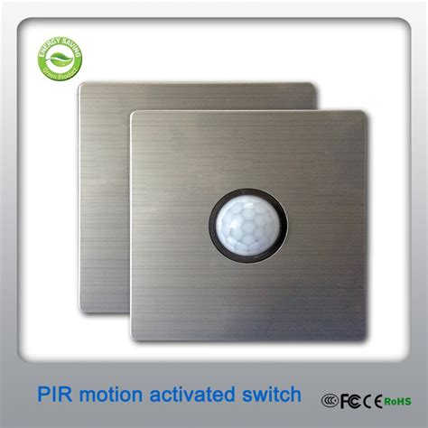 80x 80mm 2 wire connection modern style pir motion sensor