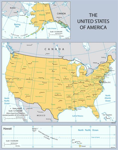 detailed map of usa states and cities www