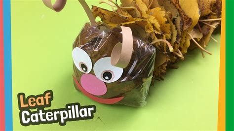 ls made from leaves caterpillar made of leaves great for autumn diy with kids