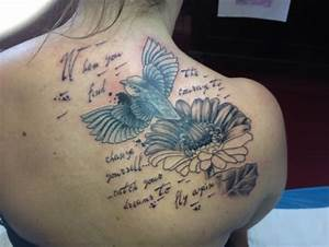 Tattoo Feder Spruch Tattoo Spruch Fight Until The End Mit Feder