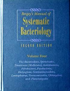 Bergey U2019s Manual Of Systematic Bacteriology  2nd Edition  Vol  4