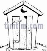 Drawings Outhouse Drawing Coloring Line Sketches Sketch Timtim Sketchite Felting sketch template