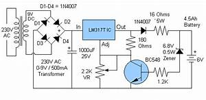 6 Volt Battery Charger Circuit Diagram Without Transformer