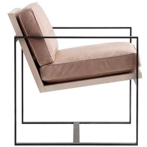 manhattan modern leather metal arm chair see more