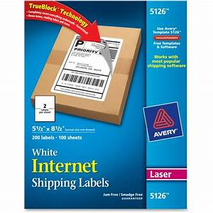 avery 5126 shipping label 550quot width x 850quot length 200 With avery large shipping labels