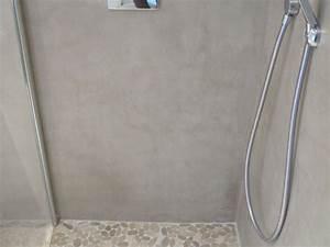 coin douche a l39italienne avec un sol et beton cire With porte de douche coulissante avec salle de bain beton cirée
