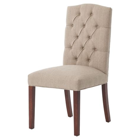 jackie country classic tufted taupe dining chair