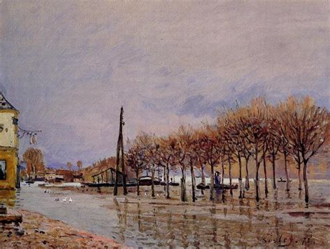 flood at port marly alfred sisley wikiart org
