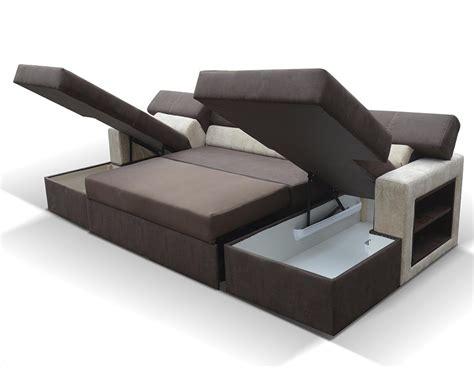 canapé avec rangement canape convertible avec 2 coffres de rangement