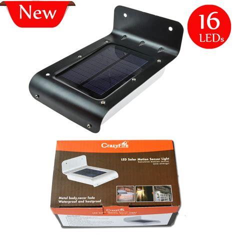 best outdoor led motion sensor light best price 16xleds solar motion sensor garden light
