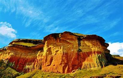 Africa Clouds Rocks Colorful Geology Freestate Southafrica