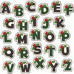 strawberry alphabet clip art font digital  clipart fruit letters scrapbooking