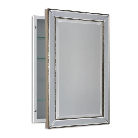 bathroom wall medicine cabinets deco mirror 16 in w x 26 in h x 5 in d framed single