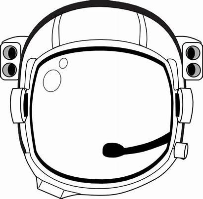 Spaceman Clip Astronaut Clipart Helmet Vector Vandal