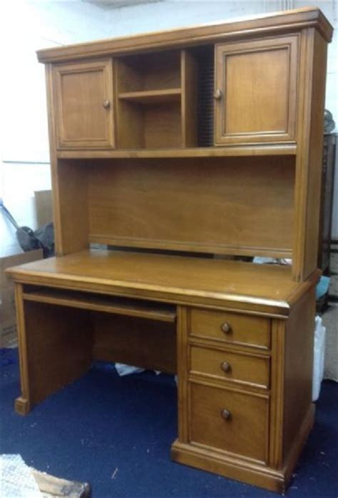 all wood desk with hutch lot detail handsome wood desk with keyboard drawer