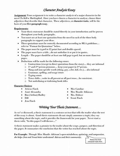Thesis Essay Character Analysis Example Poetry Traits