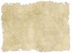 Old paper with torn edges and a faded floral design - http ...