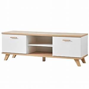 Meuble Tv Scandinave But : meuble tv scandinave 2 tiroirs 144x40cm malmo ~ Teatrodelosmanantiales.com Idées de Décoration