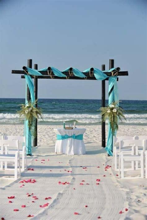 magical beach wedding aisle decorations