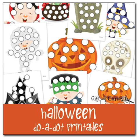 free preschool printable worksheets do a dot 318   Halloween do a dot printables Gift of Curiosity