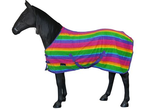 horse fleece rug pony stable rainbow travel ful cob cooler warm sheet exercise regime baseline setting