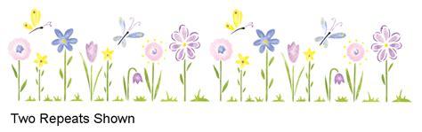 whimsical flowers small stencil walltowallstencilscom