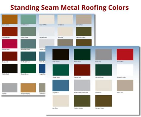 standing seam metal roof colors choosing a style and color for your metal roofing system