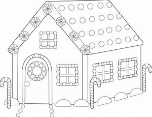 Gingerbread house coloring pages printable for kids for House wiringpng