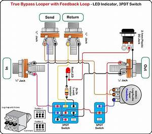 Alternate True Bypass Looper W  Feedback Loop Wiring